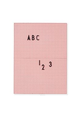 Bilde av Design Letters Oppslagstavle Rosa A4