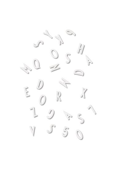 Bilde av Design Letters Bokstaver og Tall til Oppslagstavle, Hvit