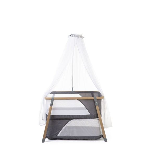 Bilde av Childhome Convertible Folding Crib Woodlook + Mosquito