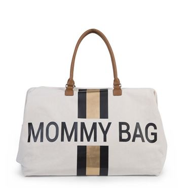 Bilde av Childhome Mommy Bag, Offwhite + Sort/Gull