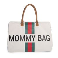 Bilde av Childhome Mommy Bag, Offwhite + Rød/Grøn