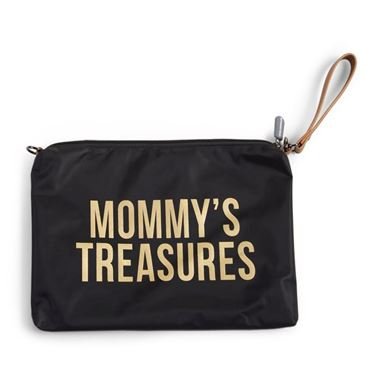 Bilde av Childhome Mommy Bag Clutch, Sort/Gull