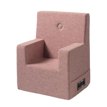 Bilde av By KlipKlap Kids Chair XL - Soft rose with rose buttons