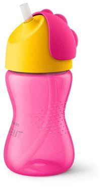 Bilde av Philips Avent Flaske med Sugerør, 300ml, Rosa