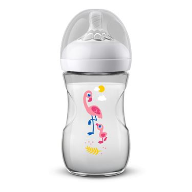 Bilde av Philips Avent Tåteflaske Natural, 260ml Flamingo