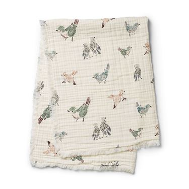 Bilde av Elodie Details Soft Cotton Blanket, Feathered Friends