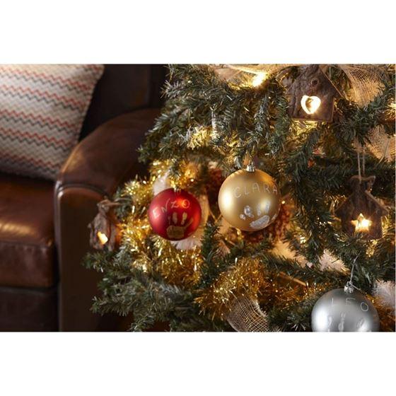 Bilde av Baby Art Julekule med håndavtrykk, Gull