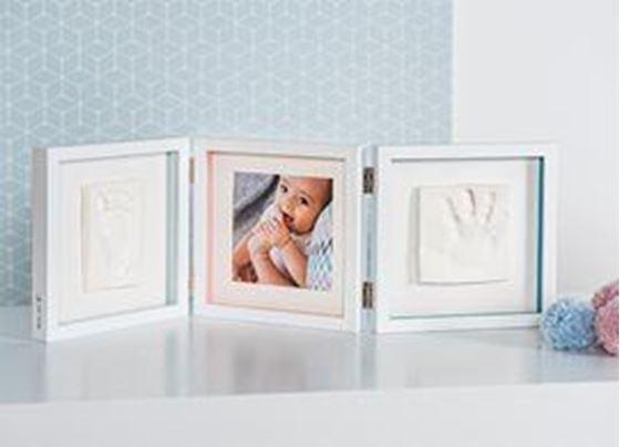 Bilde av Baby Art My Baby Style - Dobbelt Gipsavstøp + Bilderamme