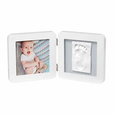 Bilde av Baby Art My Baby Touch, Hvit - Gipsavstøp + Bilderamme