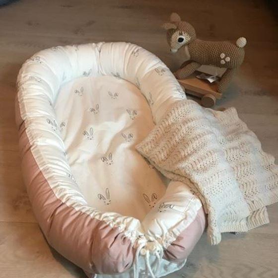 Bilde av Napnest Babynest, Rosa med kaniner