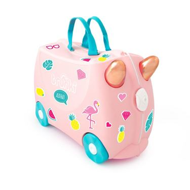 Bilde av Trunki Barnekoffert, Ride-On, Flossi Flamingo