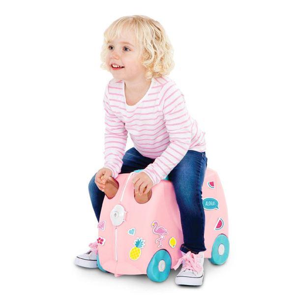 Bilde av Trunki Barnekoffert, Ride-On, Flossi Flamingo