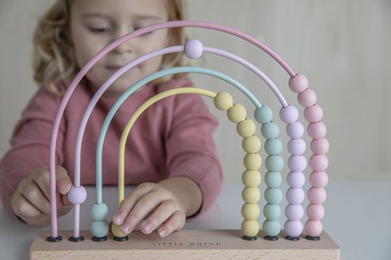 Bilde av Little Dutch Kuleramme, Rainbow Abacus, Rosa