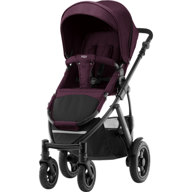 Bilde av Britax Smile 2 Duovogn, Wine Red Denim
