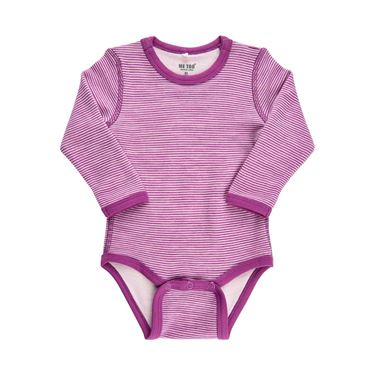 Bilde av Me Too Ull/Bambus Body LS, Str 62, Rosa Striper