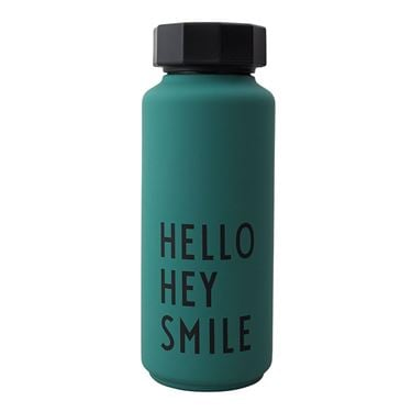 Bilde av Design Letters Thermo Bottle Special Edt. DarkGreen HELLO-HEY-SMILE