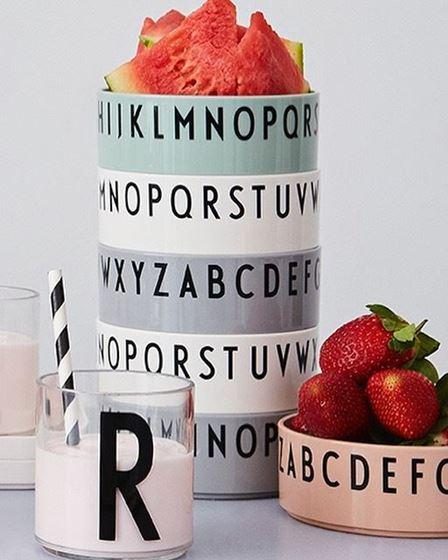 Bilde av Design Letters Bokstavskåler, 3pk, Nude