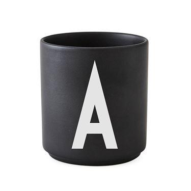 Bilde av Design Letters Porselenskopp, Sort, A