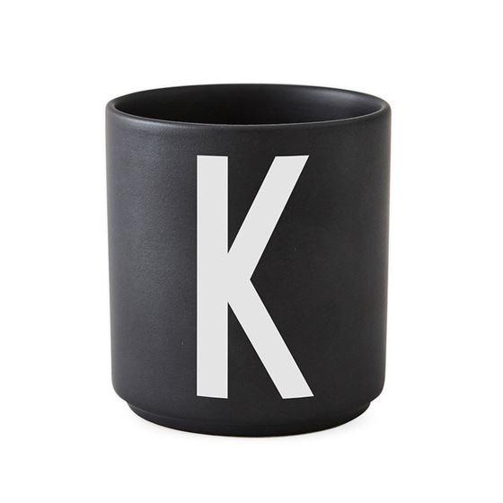 Bilde av Design Letters Porselenskopp, Sort, K