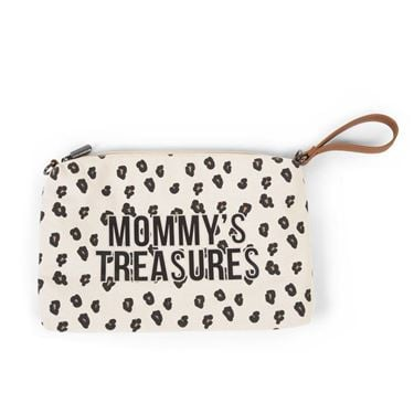 Bilde av Childhome Mommy Bag Clutch, Stor Leopard Canvas