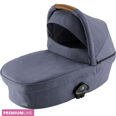 Bilde av Britax Smile III Carrycot Liggedel, Indigo Blue / Brown Handle