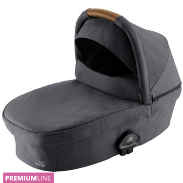 Bilde av Britax Smile III Carrycot Liggedel, Midnight Grey / Brown Handle