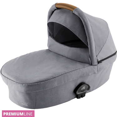 Bilde av Britax Smile III Carrycot Liggedel, Frost Grey / Brown Handle