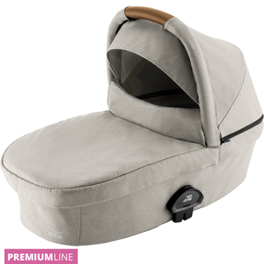 Bilde av Britax Smile III Carrycot Liggedel, Pure Beige / Brown Handle