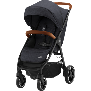Bilde av Britax B-Agile R, Black Shadow, Brown Handle