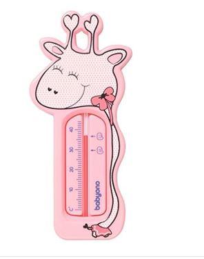 Bilde av Babyono Badetermometer, Giraffe, Rosa