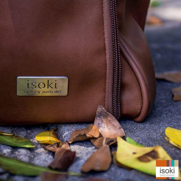 Bilde av Isoki Stelleveske Double Zip, Redwood Chestnut
