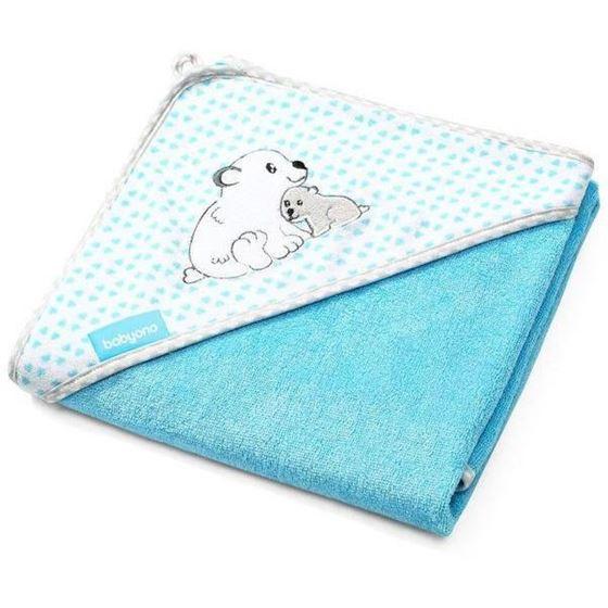 Bilde av Babyono Hettehåndkle i Bambusviskose, 100cm Blå