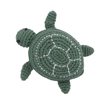 Bilde av Sebra Heklet Rangle, Triton the Turtle, seaweed green