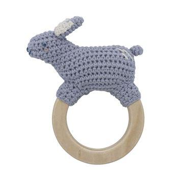 Bilde av Sebra Heklet Rangle, Bluebell the rabbit on ring, dreamy lavender