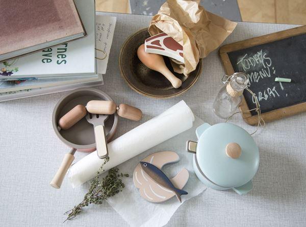 Bilde av Sebra Lekemat, Kjøtt og Fisk i tre