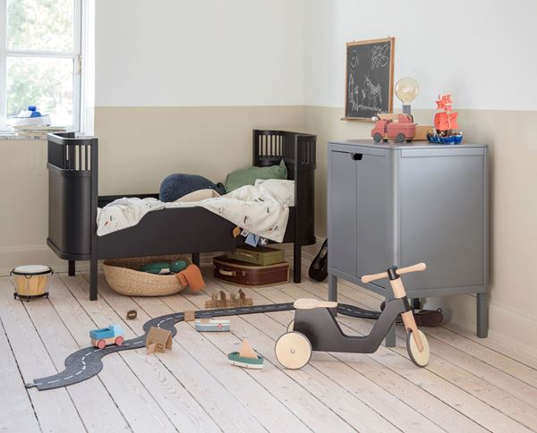 Bilde av Sebra seng, Baby & Junior, Black Wooden Edition