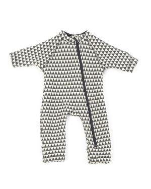 Bilde av Smallstuff Jumpsuit, Grey/Offwhite Graphic, Str 92/98