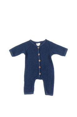Bilde av Smallstuff Jumpsuit, Navy Bobbles, Str 74