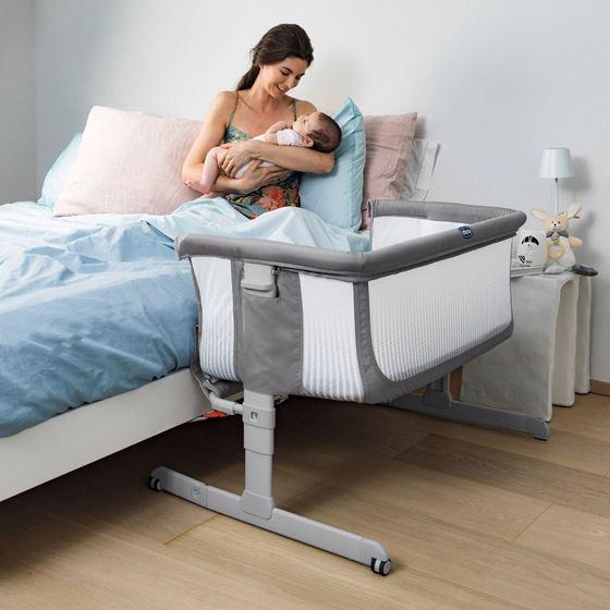 Bilde av Chicco Next2Me Air, Bedside Crib, Stone
