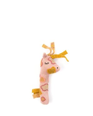 Bilde av Smallstuff Rangle - Giraff, Maracas - Gull med glitter