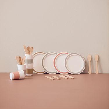 Bilde av Kids Concept Matservice, Sett 4 stk, Bistro Treleke