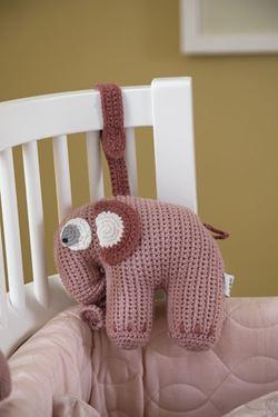 Bilde av Sebra Heklet Musikkuro, Elefanten Fanto, blossom pink