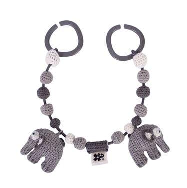 Bilde av Sebra Heklet Barnevognskjede, Elefanten Fanto, classic grey