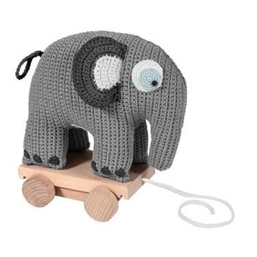 Bilde av Sebra Heklet Trekkdyr, Elefanten Fanto, classic grey