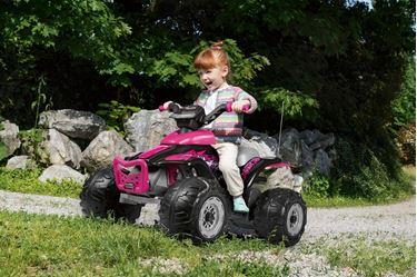 Bilde av PegPerego Corral T-Rex Firhjuling, 330W - Rosa