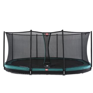 Bilde av BERG Grand Favorit Inground Trampoline inkl. sikkerhetsnett. Oval 520x345cm, Grønn
