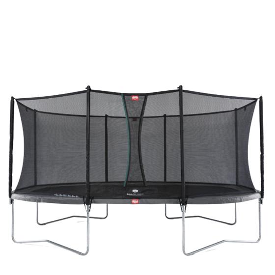 Bilde av BERG Grand Favorit Trampoline inkl. sikkerhetsnett. Oval 520x345cm, Grå