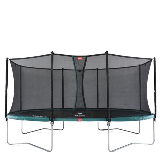Bilde av BERG Grand Favorit Trampoline inkl. sikkerhetsnett. Oval 520x345cm, Grønn