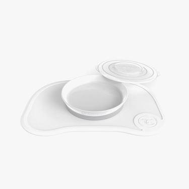 Bilde av Twistshake Click Mat + Plate 6+m White