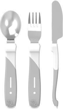 Bilde av Twistshake Learn Cutlery Stainless Steel 12+m White